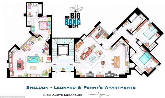 Sketch Floorplan Friends Apartments Other Famous Shows