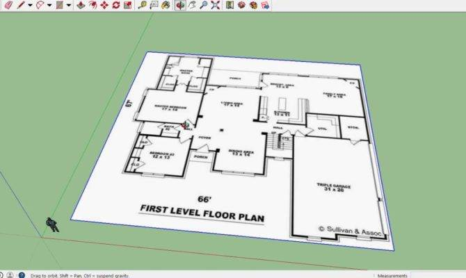 Sketchup House Import Floor Plan Youtube