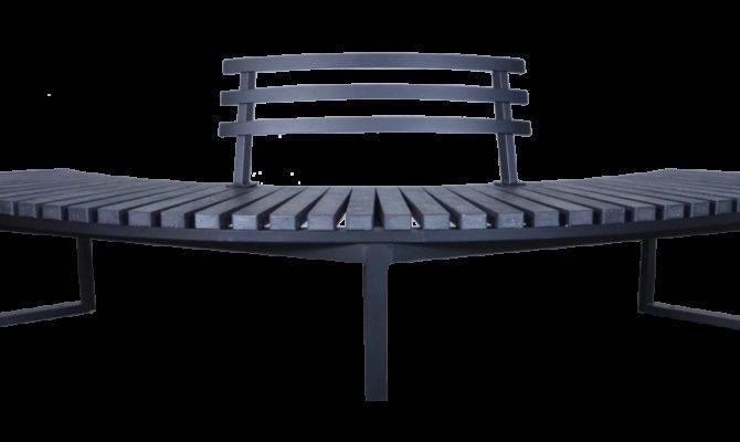 Skyline Curved Park Bench Wishbone Furnishings