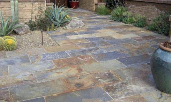 Slate Patio Tiles Floor Traditional Outdoor