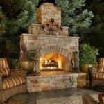 Sleek Outdoor Fireplace Designs Kitchentoday