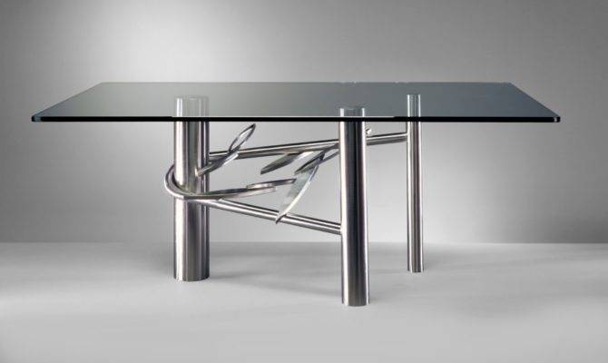 Sleek Stainless Steel Dining Tables