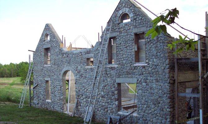 Slipform Stone Building House Project