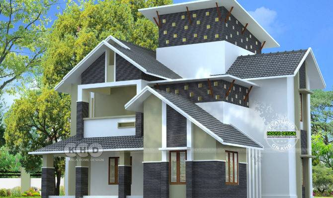 Slooping Roof Modern Sloping Home