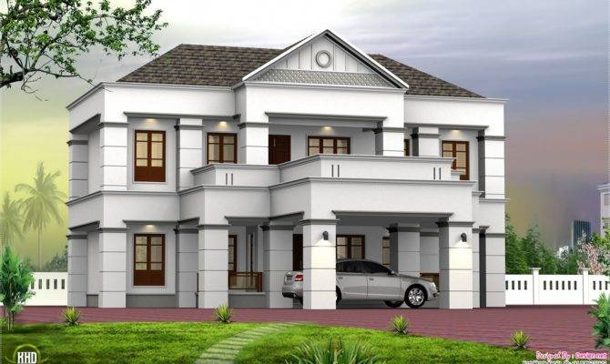 Slope Roof Box Design Kerala Home Floor Plans