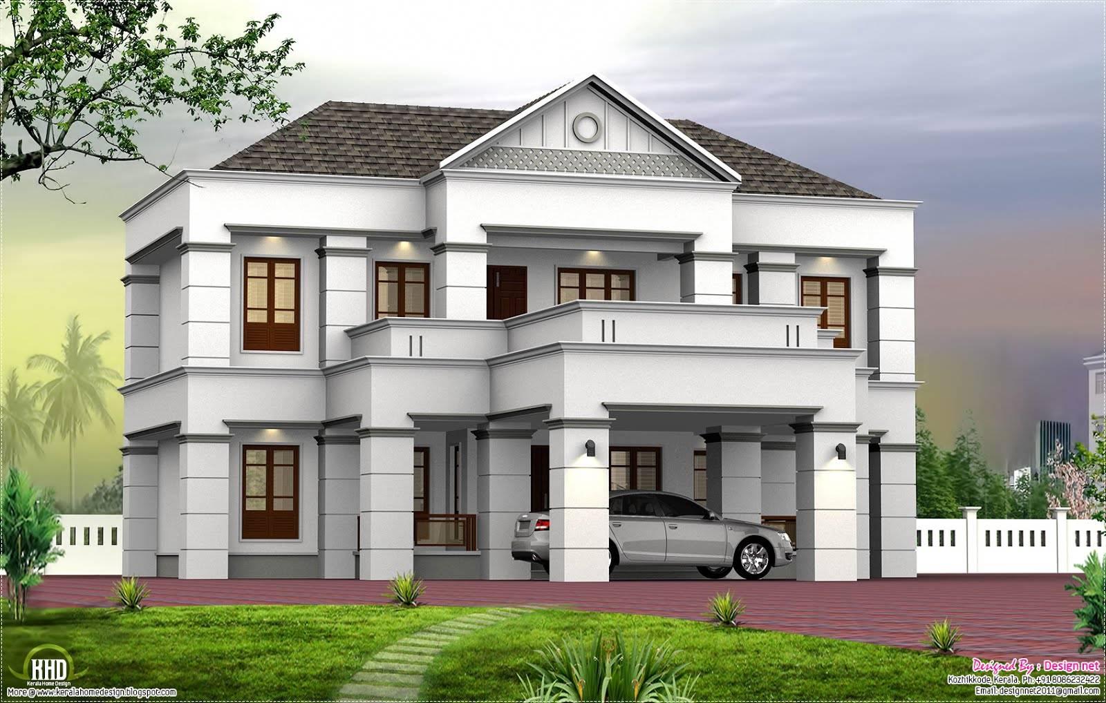 Slope Roof Box Design Kerala Home Floor Plans House Plans 15204