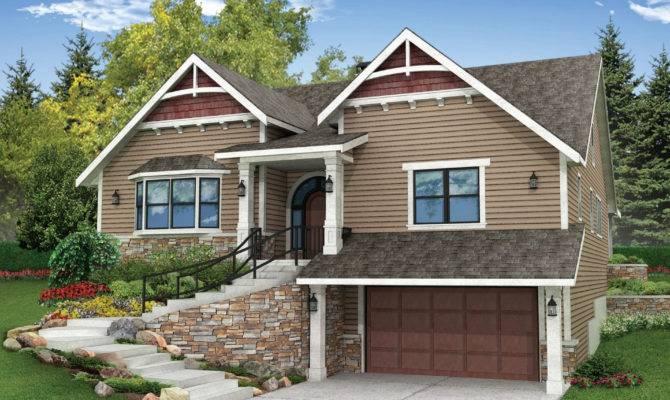 Sloped Lot House Plans Walkout Basement Best