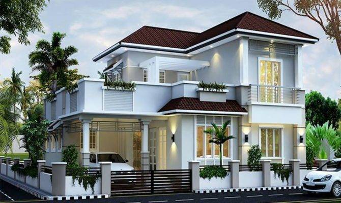Sloped Roof Bungalow Font Elevations Collection House Plans 166949