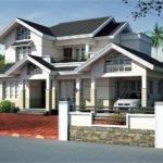 Sloped Roof House Elevation Design Kerala Home Floor