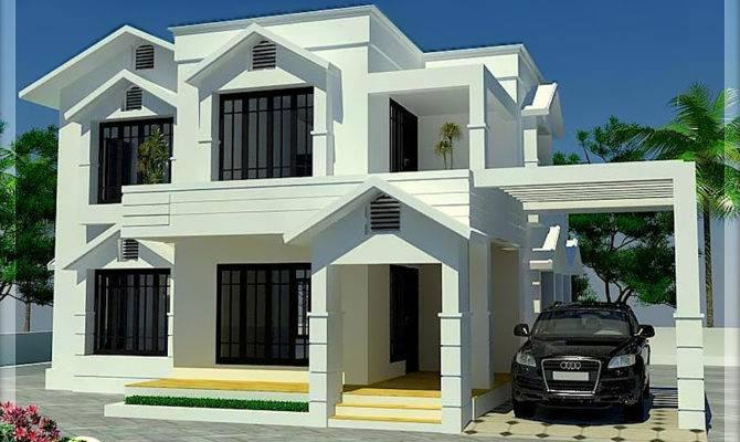Sloping Roof Home Bedroom Kerala Design Floor Plans