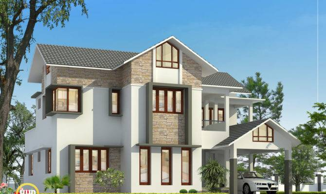 Sloping Roof House Contact Home Design Malappuram Bed