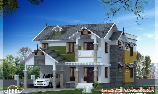 Sloping Roof House Design Kerala Home Floor Plans