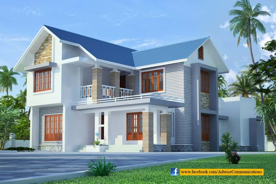 Sloping Roof Kerala Home Design House Plans 127784