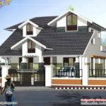Sloping Roof Story House Home Appliance