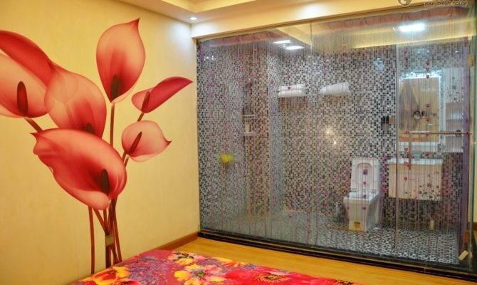 Small Apartment Romantic Master Bedroom Bathroom Decoration