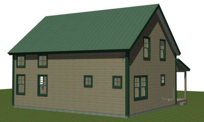 Small Barn House Plans Mont Calm