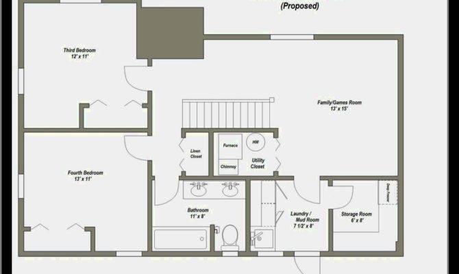 Small Bathroom Plans Basement Floor