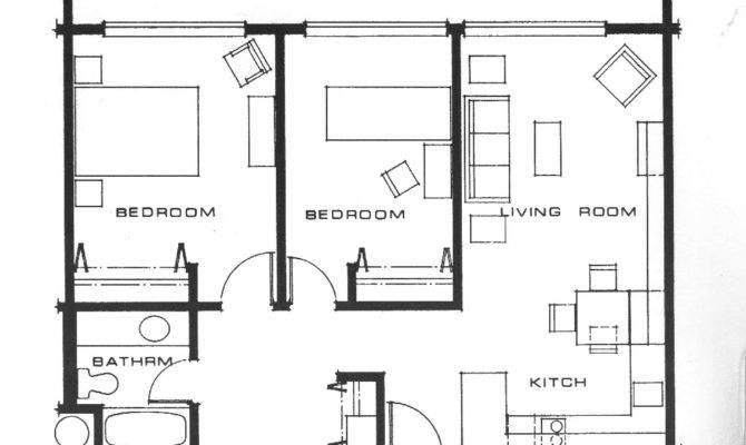Small Bedroom Apartment Plans Floor