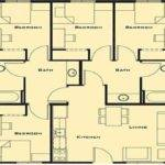 Small Bedroom House Plans Plan One Story Floor