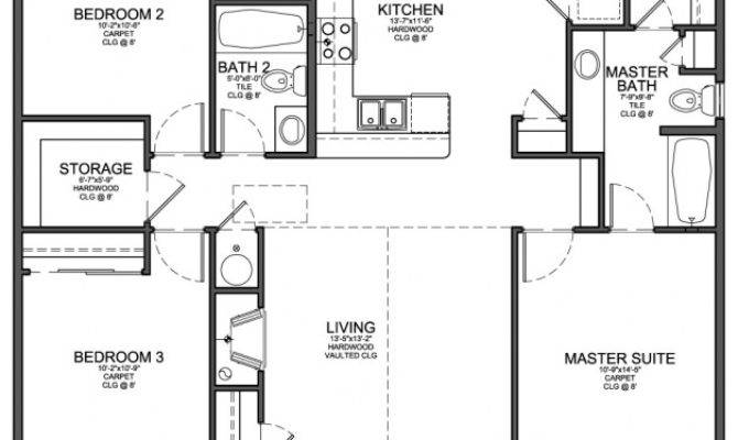 Small Bedroom Modern House Plans Cottage