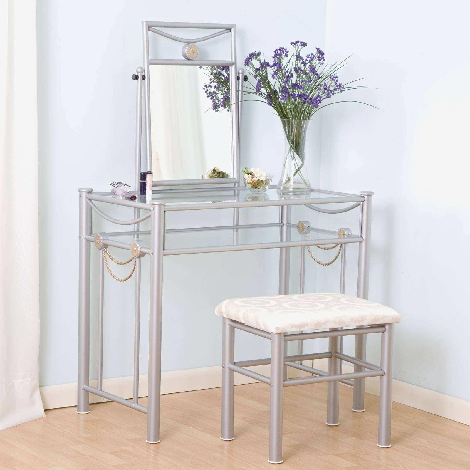 Small Bedroom Vanity Elegant Glass Makeup Table House Plans 148197