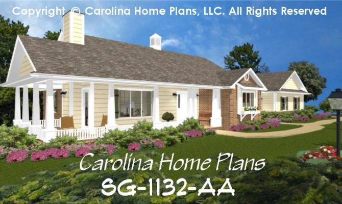 Small Brick Country House Plan Affordable