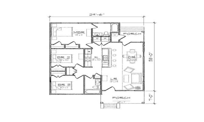 Small Bungalow House Floor Plans Modern