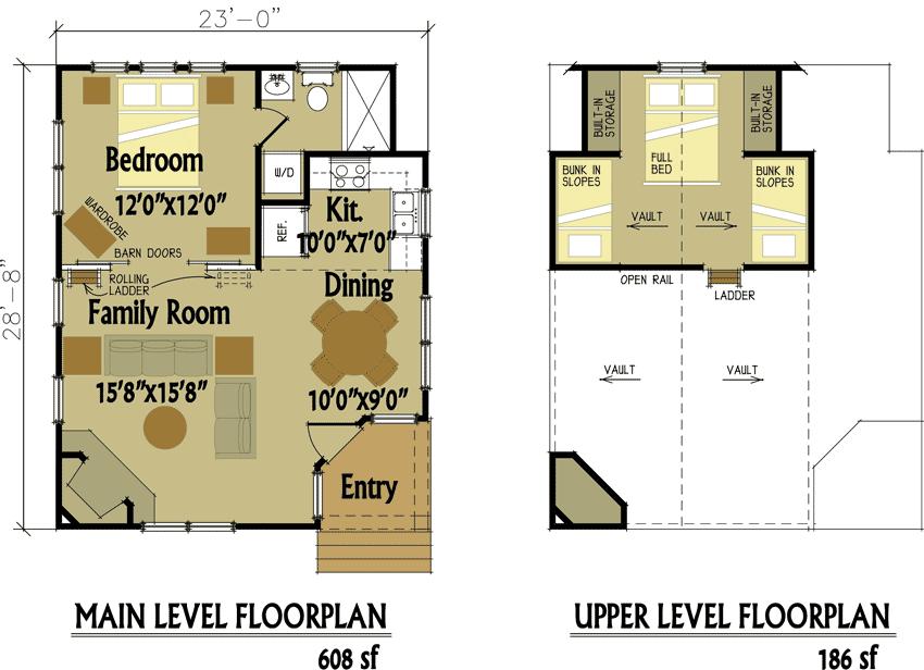 Small Cabin Designs Loft Floor Plans House Plans 170496