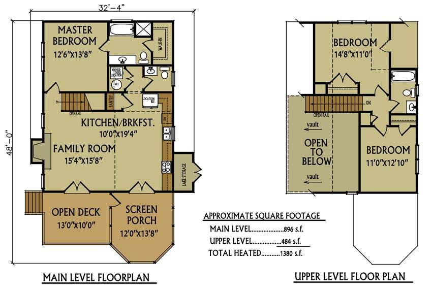 small cabin floor plan bedroom max fulbright house plans