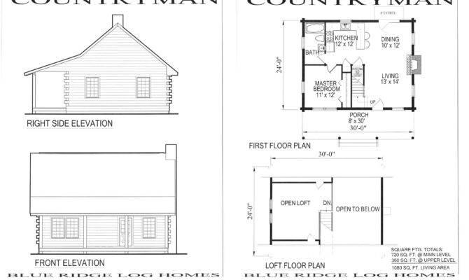 Small Cabin Floor Plans Cozy
