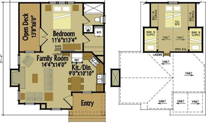 Small Cabin Floor Plans Loft Design Your Home Awesome