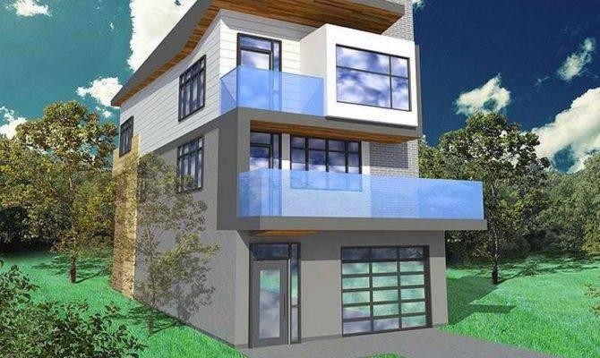 Small Cabin Floor Plans Narrow Lot Contemporary Open