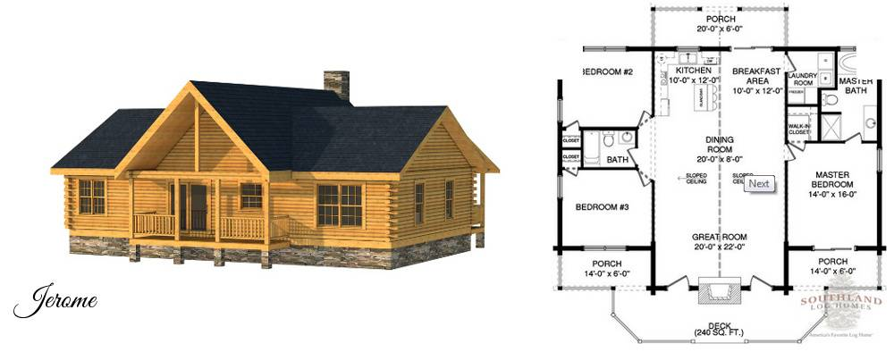 Small Cabin Plans Home Kits Southland Log Homes - House Plans | #51091