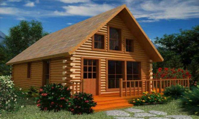 Small Cabin Plans Loft House Style