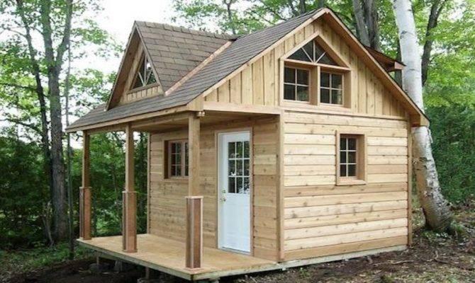 Small Cabin Plans Loft Kits Inexpensive