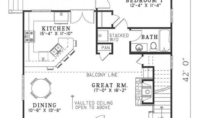 Small Cottage Open Floor Plans