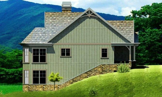 Small Cottage Plan Walkout Basement Floor