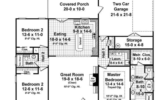 Small Country House Plans Ranch Home Wrap