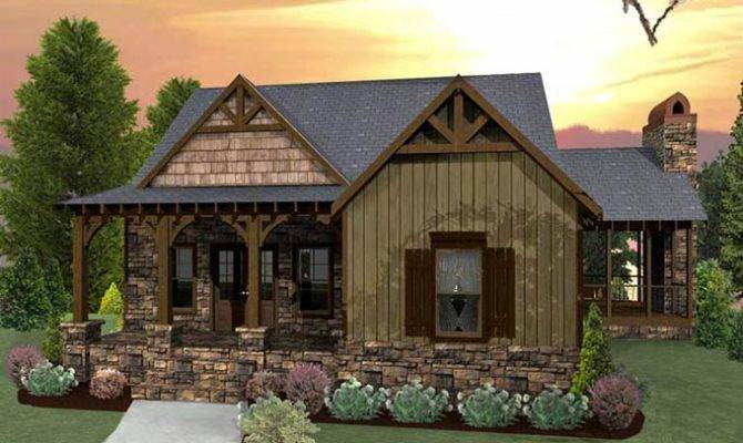 Small Craftsman Cottage House Plan Porches