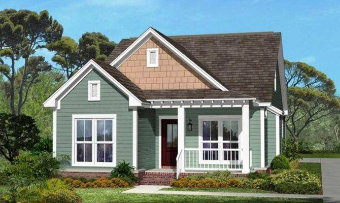 Small Craftsman Style Homes Green Wall Paint Color