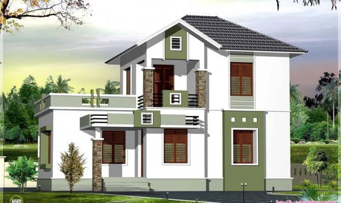 Small Double Floor Home Design Feet Kerala