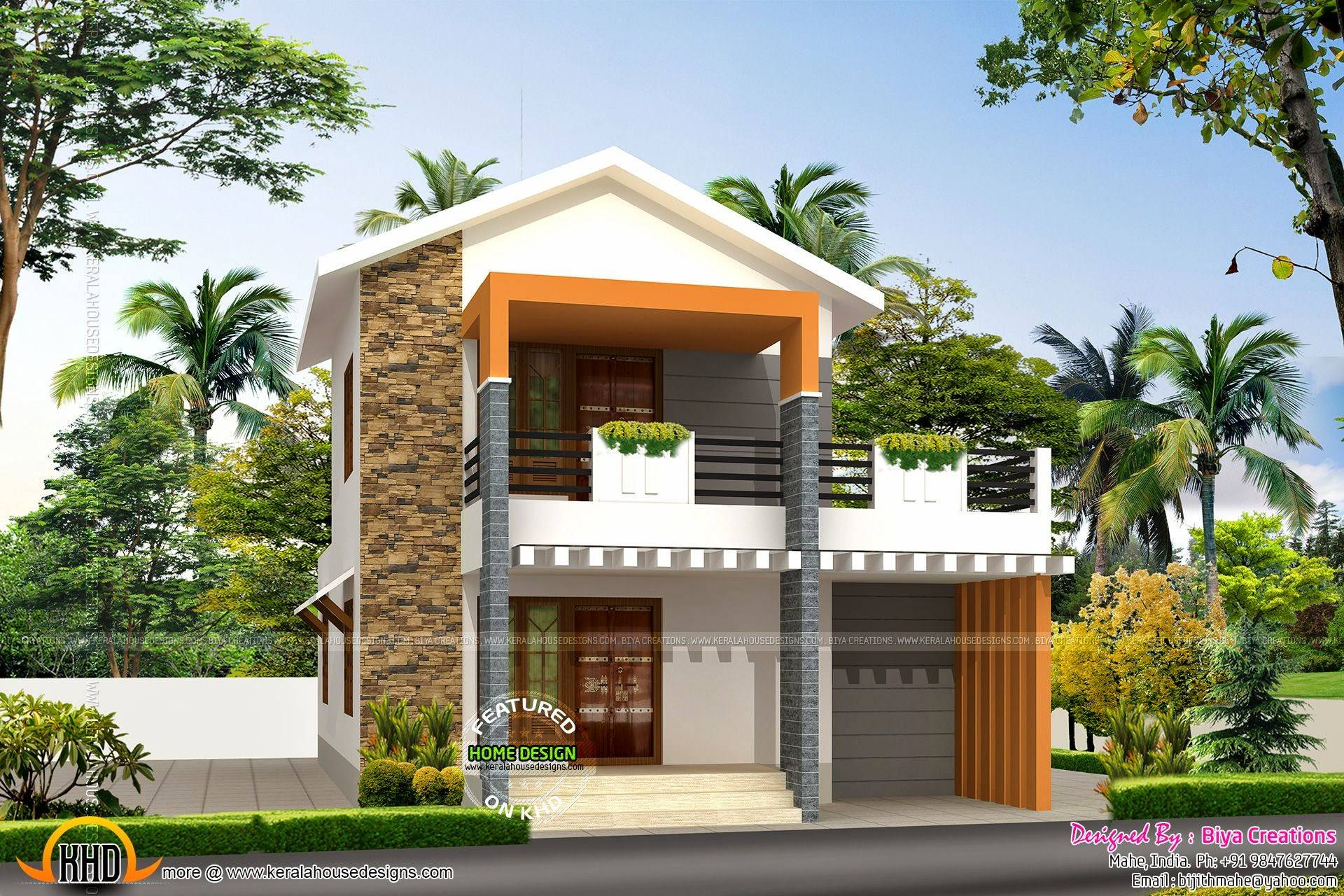 Small Double Storied House Feet Kerala Home - House Plans | #92721
