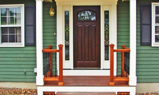 Small Enclosed Front Door Porch