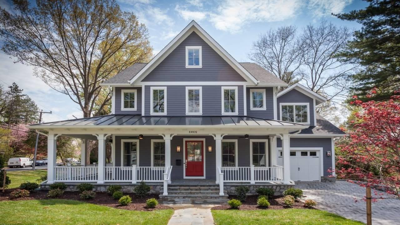 Small Farmhouse Plans Wrap Around Porch Ideas Simple - House Plans | #163659