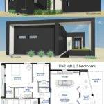 Small Front Courtyard House Plan Custom Modern
