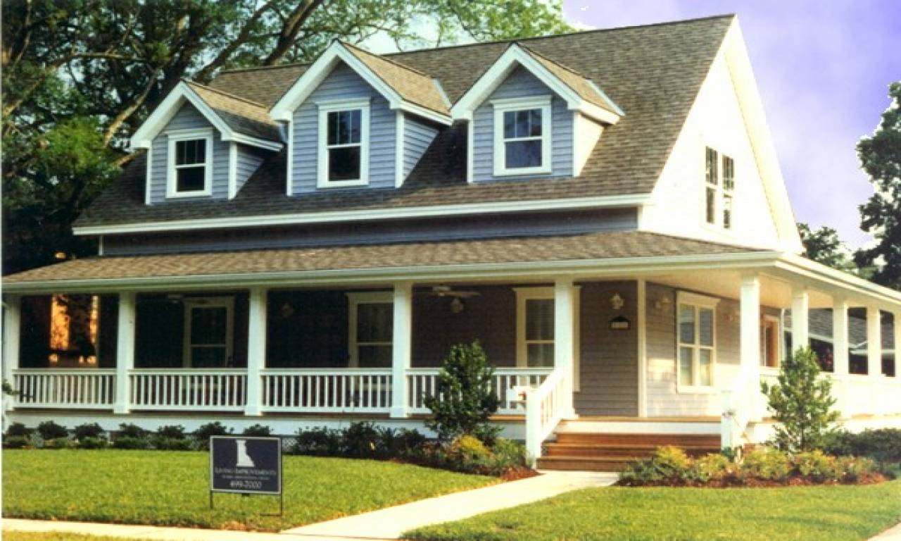 Small Front Porches Houses Wrap Around - House Plans | #144587