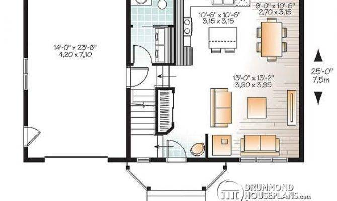 Small Home Plans Garage Homes Floor
