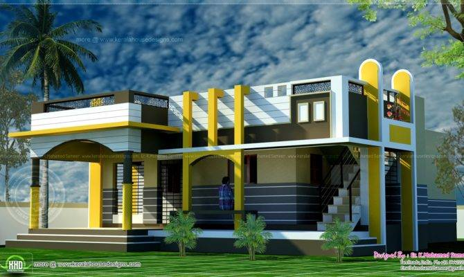 Small House Design Contemporary Style Indian Plans 71320