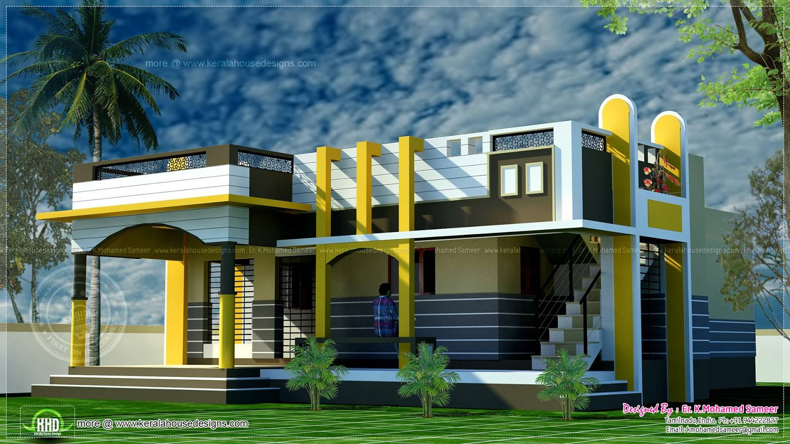 Picture of: Small House Design Contemporary Style Indian Plans House Plans 96872