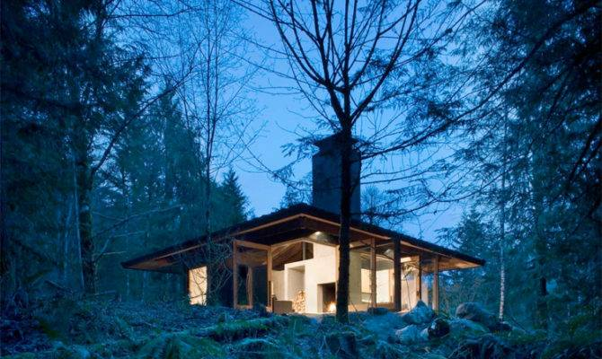 Small House Design River Harmony Natural Surroundings